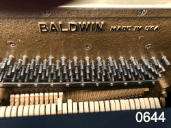 Rare 52 inch Baldwin model 6000 professional upright piano