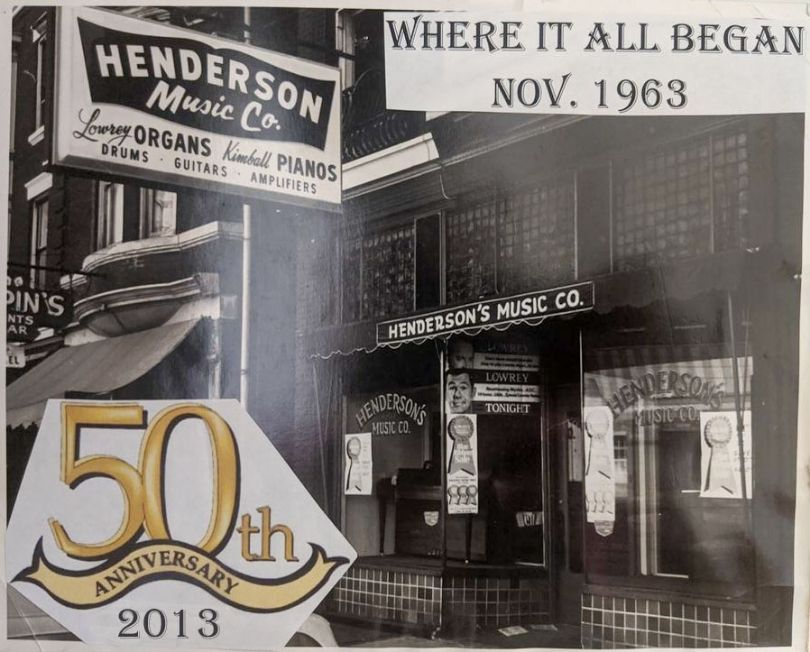 Original Henderson Music Co Location Covington KY 1963